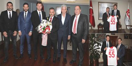 Samsunspor'dan Vali Kaymak ve Başkan Demir'e Ziyaret