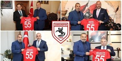 Samsunspor'dan Belediye Başkanlarına Ziyaret