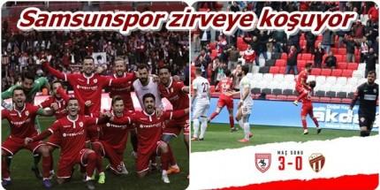 Samsunspor Zirveye Bir Adım Daha Yaklaştı