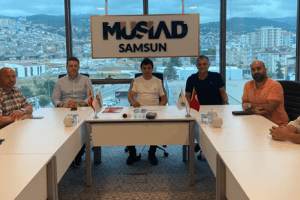Samsunspor Basketbol'dan MÜSİAD Başkanı Haluk Tan'a Ziyaret