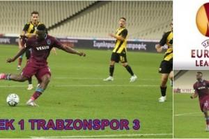 Trabzonspor UEFA Avrupa Ligi Play-Off Turunda Avantajı Kaptı