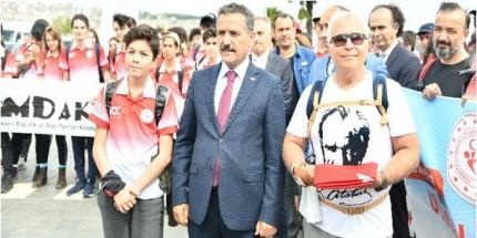 Vali Kaymak 81 İlden Gelen 350 Dağcıyı Havza'ya Uğurladı