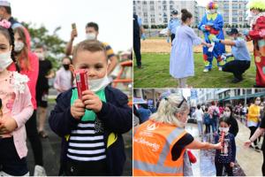 Belediye Ekipleri Sokağa Çıkma İzin Gününde Çocukları Sevindirdi