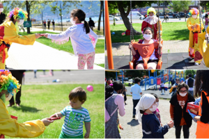 Sokağa Çıkma İzni Olan Çocuklara Palyaçolu Sürpriz