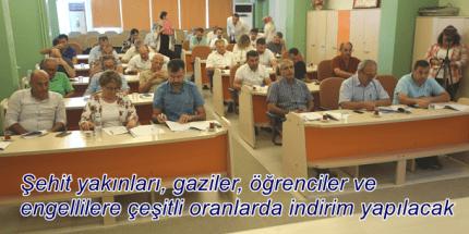 Atakum Belediye Meclisi 'İndirim' Dedi