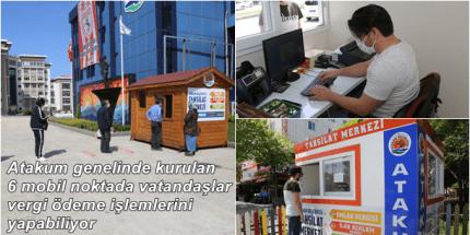 Atakum Belediyesi'nden Mobil Ödeme Noktaları