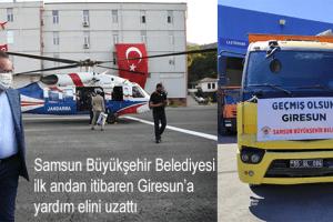 Samsun Büyükşehir'den Giresun'a Yardım Eli