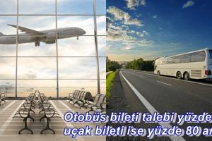 Uçak ve Otobüs Bilet Satışlarında Ciddi Oranda Artış