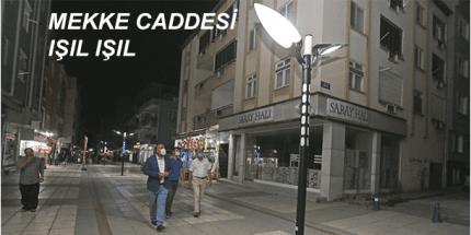 Canik Belediyesi'nden Mekke Caddesine Estetik Dokunuşlar