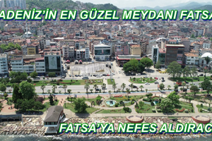 Fatsa Cumhuriyet Meydanı Açılış İçin Gün Sayıyor