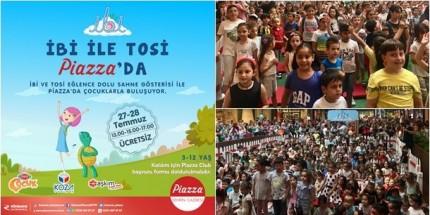 İbi ve Tosi, Samsunlu Çocuklarla Pizza'da Buluştu