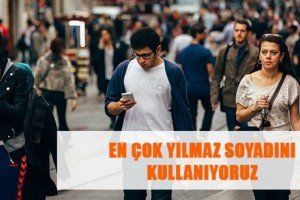 Türkiye'de En Çok kullanılan Soyadlar