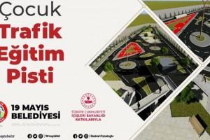 19 Mayıs Belediyesi İlçeye Çocuk Trafik Eğitim Pisti İnşa Ediyor