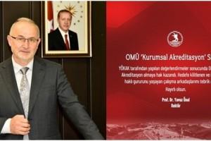 Yükseköğretim Kalite Kurulu (YÖKAK)'tan OMÜ'ye Tam Akreditasyon