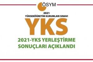 2021-YKS Yerleştirme Sonuçları Açıklandı