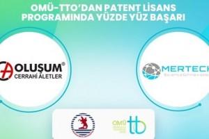 OMÜ-TTO'dan Patent Lisans Programında Yüzde Yüz Başarı