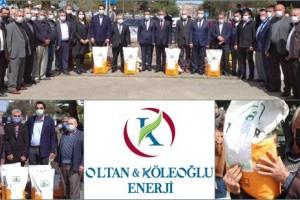 OKE, 110 Köyde Toplam 437 Çiftçiye Tohum Desteği  Verdi