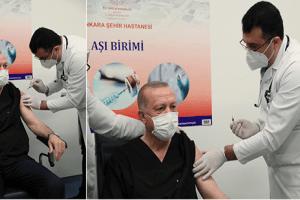 Cumhurbaşkanı Erdoğan Kovid-19 Aşısı Yaptırdı