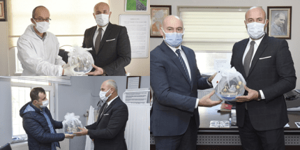 Başkan Togar'dan Sağlık Çalışanlarına Teşekkür Ziyareti