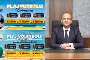 Fatsa Belediyesi Plaj Futbolu ve Plaj Voleybolu Turnuvası Düzenliyor