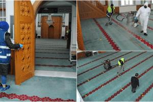 Canik Belediyesi Ramazan Öncesi Camilerde Temizlik Çalışması Başlattı