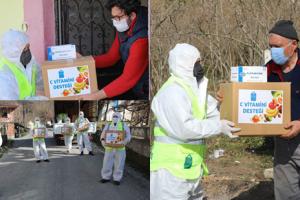 Karantinadaki 230 Haneye Gıda Destek Paketi Dağıtıldı