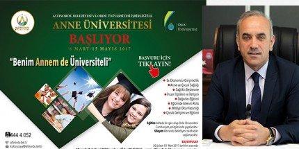 """Altınordu'da """"Anne Üniversitesi"""" Açılıyor"""