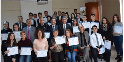 Bafra'da Öğrenciler KOSGEB Uygulamalı Girişimcilik Eğitimini Tamamladı