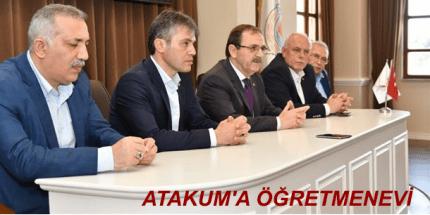 """Başkan Zihni Şahin: """"Atakum'a Öğretmenevi İnşa Edeceğiz"""""""
