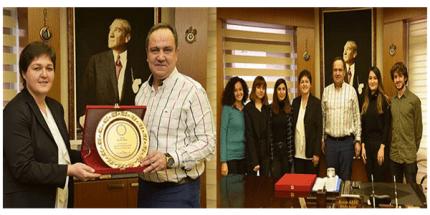 Eğitim Gönüllüleri Vakfı 'ndan Başkan Aksu'ya Başkan Aksu'ya Ziyaret