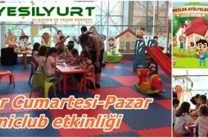 Yeşilyurt AVM'de Dolu Dolu  Miniclub Etkinlikleri