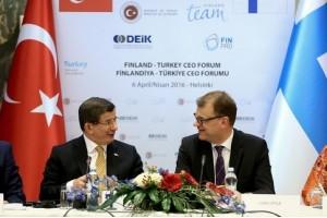 Başbakan Davutoğlu, Finlandiya-Türkiye İş Forumu'na Katıldı