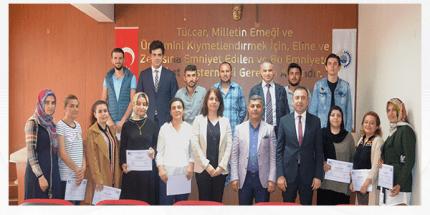KOSGEB Uygulamalı Girişimcilik Eğitimi Katılımcıları Sertifikalarına Kavuştu