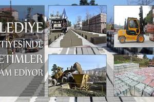 Giresun Belediyesi Şantiyesinde Üretimler Devam Ediyor