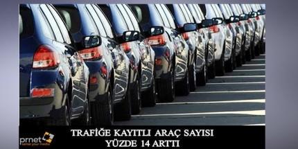 Araç Sayısı Yüzde 14 Arttı