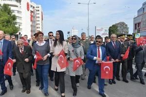 Samsunlular 'Cumhuriyet Yürüyüşüne' Yoğun İlgi Gösterdi