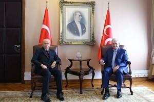 Başbakan Yıldırım İle MHP Lideri Bahçeli Bir Araya Geldi