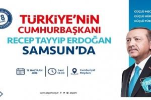 Erdoğan Samsunlularla Buluşacak