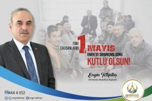 Başkan Tekintaş'dan 1 Mayıs Mesajı