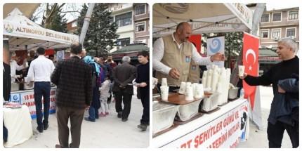 Altınordu Belediyesi 18 Mart'ın Yıldönümünde Hoşaf ve Ekmek Dağıttı