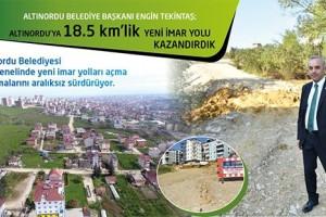 Altınordu'da Yeni İmar Yolları Açma Çalışmalarını Aralıksız Sürüyor