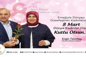"""Başkan Engin Tekinbaş'tan """"8 Mart Dünya Kadınlar Günü"""" Mesajı"""