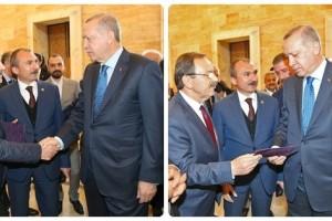 Başkan Zihni Şahin Cumhurbaşkanı Erdoğan'a Davetiyesini Arz Etti