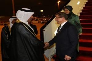 Başbakan Davutoğlu, Katar'da