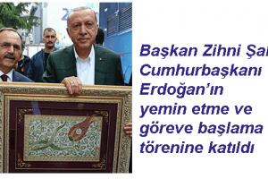 """Başkan Şahin : """"Ülkemize ve Milletimize Hayırlı Olsun"""""""