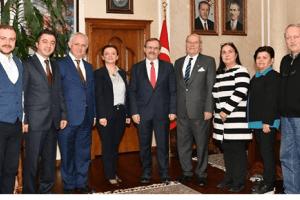 Rumeli Dernekler Federasyonu'ndan Başkan Zihni Şahin'e Teşekkür