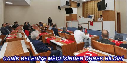 """Canik Belediyesi'nden """"Barış Pınarı Harekâtına Destek"""" Bildirisi"""