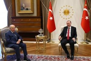 Cumhurbaşkanı Erdoğan Bahçeli İle Görüştü