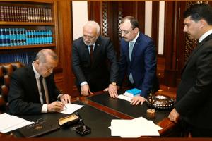 Cumhurbaşkanı Erdoğan Adaylık Muvafakatnamesini İmzaladı
