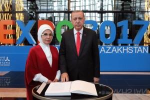 Cumhurbaşkanı Erdoğan, Astana EXPO 2017 Fuar Alanını Ziyaret Etti